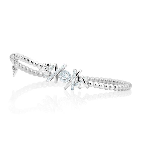 """Armband """"Magnifico"""" 750WG, 1 Diamant Brillant-Schliff 0.10ct TW/si, 42 Diamanten Brillant-Schliff 0.26ct TW/si Innenumfang 17.0 cm"""