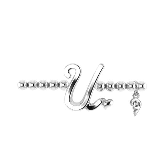 "Armband ""Poesia"" 750WG, Buchstabe ""U"", Innenumfang 17.0 cm"