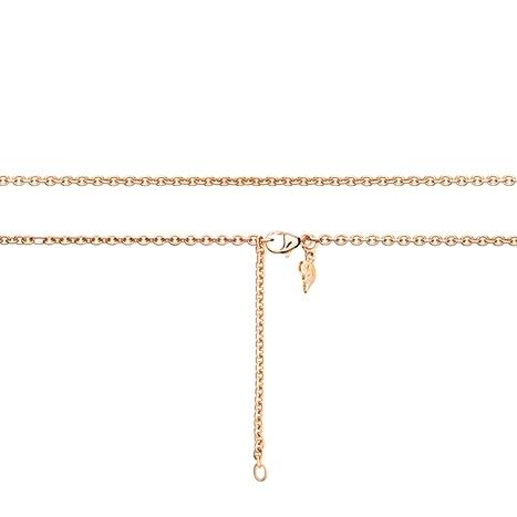Collierkette Anker rund 750RG 1-reihig mit Markenzeichen, Ø 2.3 mm, Länge 60.0 cm, Zwischenösen bei 51.0 + 55.5 cm