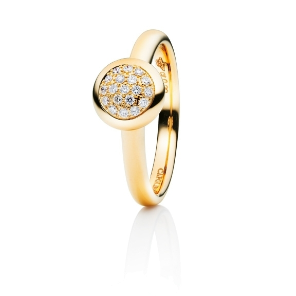"Ring ""Dolcini"" 750GG, 19 Diamanten Brillant-Schliff 0.10ct TW/vs"