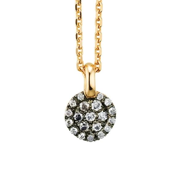 """Anhänger """"Dolcini"""" 750GG, 20 Diamanten Brillant-Schliff 0.09ct grau"""