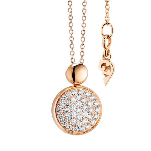 "Anhänger ""Dolcini"" 750RG, 37 Diamanten Brillant-Schliff 0.69ct TW/vs"