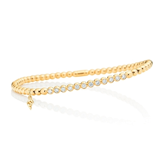 "Armband ""Flessibile"" 750GG, 12 Diamanten Brillant-Schliff 0.35ct TW/vs, Innenumfang 17.0 cm"