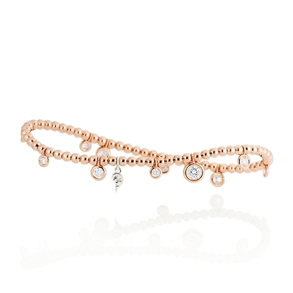 "Armband ""Prosecco"" 750RG, 11 Diamanten Brillant-Schliff 1.00ct TW/vs, Innenumfang 17.0 cm"