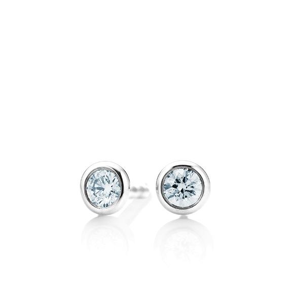 """Ohrstecker """"Classico"""" 750WG Zargenfassung, 2 Diamanten Brillant-Schliff 0.40ct TW/si"""
