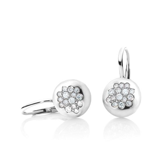 "Ohrhänger ""Dolcini"" 750WG, 30 Diamanten Brillant-Schliff 0.40ct TW/vs"