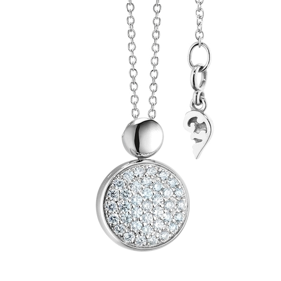 "Anhänger ""Dolcini"" 750WG, 37 Diamanten Brillant-Schliff 0.69ct TW/vs"