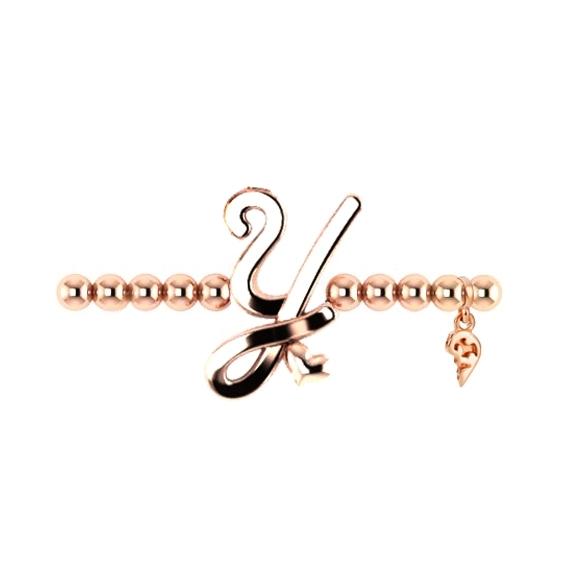 """Armband """"Poesia"""" 750RG, Buchstabe """"Y"""", Innenumfang 17.0 cm"""