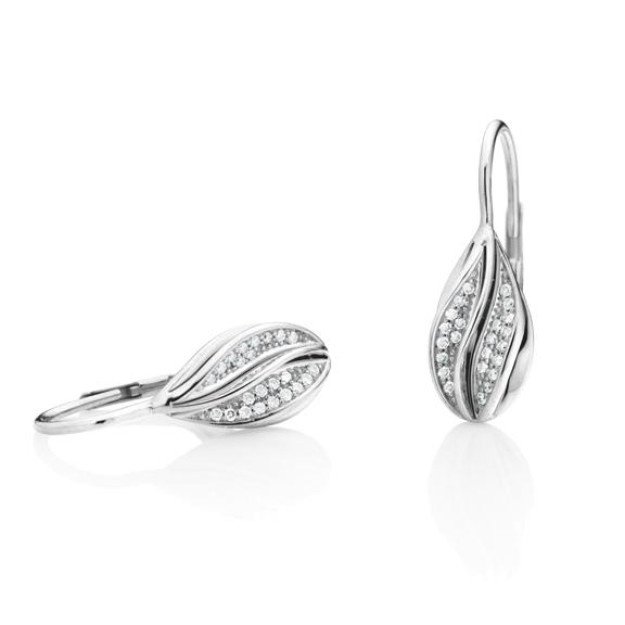 """Ohrhänger """"Elegia"""" 750WG, 46 Diamanten Brillant-Schliff 0.16ct TW/si"""