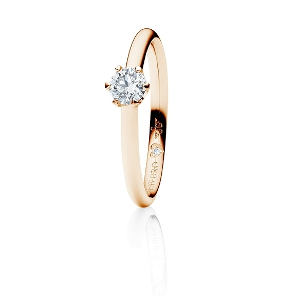 "Ring ""Endless Love"" 750RG 6-er Krappe, 1 Diamant Brillant-Schliff 0.33ct TW/vs1, GIA Zertifikat, 1 Diamant Brillant-Schliff 0.005ct TW/vs1"