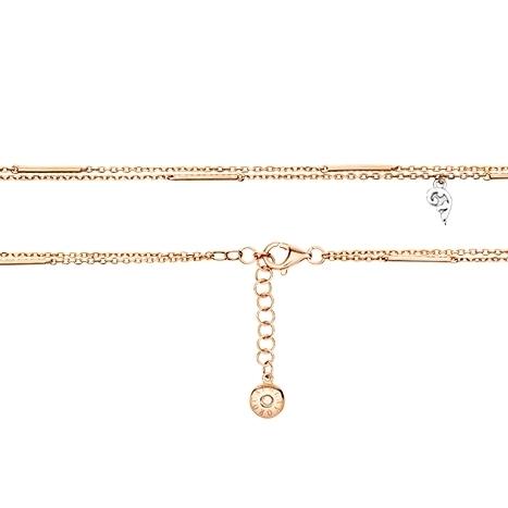 """Armband """"Romantic"""" 750RG, mit Markenzeichen Ø 1.0 mm, 1 Diamant Brillant-Schliff 0.01ct TW/vs1, Länge 15.5 cm plus 3.0 cm Verlängerung"""