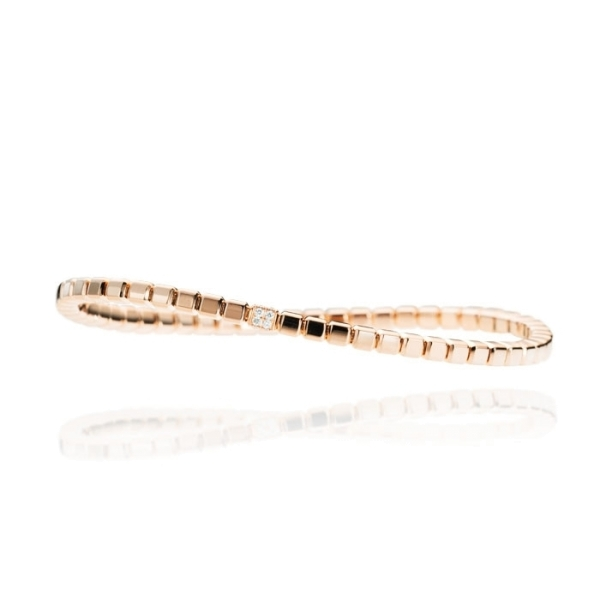 "Armband ""Splendido"" 750RG Würfel, 16 Diamanten Brillant-Schliff 0.11ct TW/vs1, Innenumfang 17.0 cm"