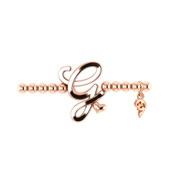 "Armband ""Poesia"" 750RG, Buchstabe ""G"", Innenumfang 17.0 cm"