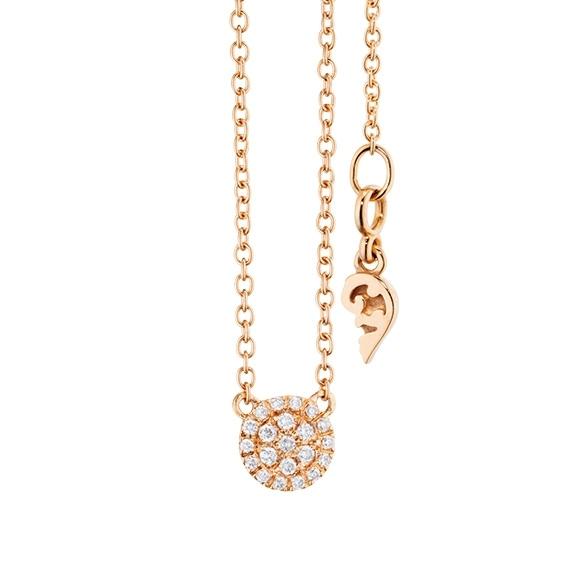 """Collier """"Dolcini"""" 750RG, 21 Diamanten Brillant-Schliff 0.10ct TW/vs, Länge 45.0 cm, Zwischenöse bei 42.0 cm"""