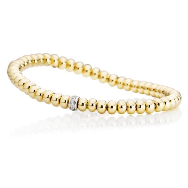 "Armband ""Flessibile"" 750GG, 11 Diamanten Brillant-Schliff 0.09ct TW/si, Innenumfang 17.0 cm"