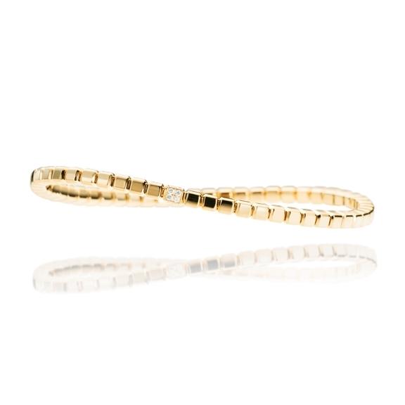 "Armband ""Splendido"" 750GG Würfel, 16 Diamanten Brillant-Schliff 0.11ct TW/si, Innenumfang 17.0 cm"