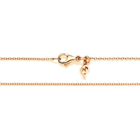 Collierkette Anker rund 750RG 1-reihig mit Markenzeichen Ø 1.0 mm, Länge 45.0 cm, Zwischenöse bei 42.0 cm