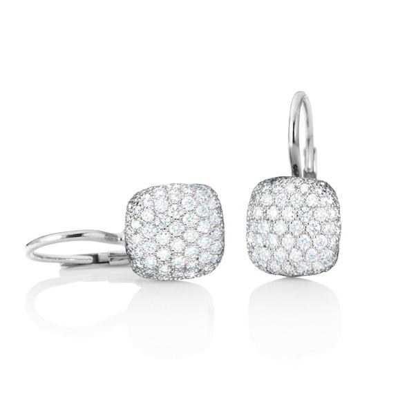 """Ohrhänger """"Happy Holi"""" 750WG, 204 Diamanten Brillant-Schliff 1.16ct TW/vs1, mit Klappbrisur"""