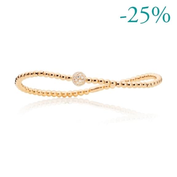 "Armband ""Flessibile"" 750GG, 31 Diamanten Brillant-Schliff 0.28ct TW/si, Innenumfang 17.0 cm"