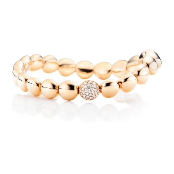 "Armband ""Dolcini"" 750RG, 31 Diamanten Brillant-Schliff 0.26ct TW/si, Innenumfang 17.0 cm"