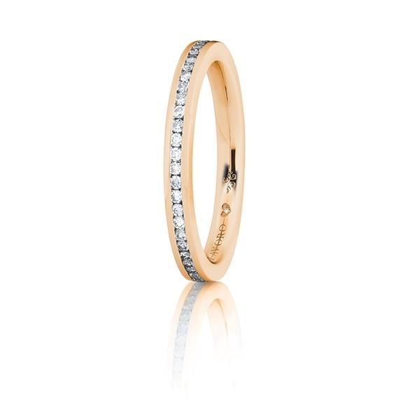 "Memoirering ""Diamante in Amore"" 750RG, 28 Diamanten Brillanten-Schliff 0.20ct TW/vs1, 1 Diamant Brillant-Schliff 0.005ct TW/vs1"