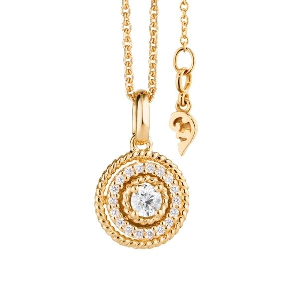 """Anhänger """"Amore mio"""" 750GG, 19 Diamanten Brillant-Schliff 0.20ct TW/si"""