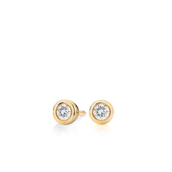 """Ohrstecker """"Diamante in Amore"""" 750GG Zargenfassung, 2 Diamanten Brillant-Schliff 0.20ct TW/vs1"""
