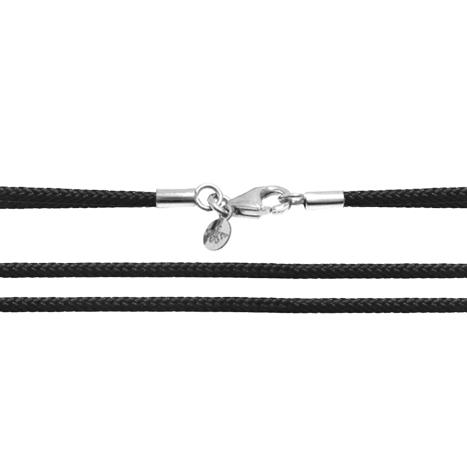 Textilband 750WG schwarz 2-reihig 45.0 cm