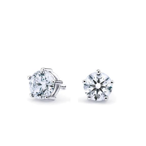 "Ohrstecker ""Diamante in Amore"" 750WG 5-er Krappe, 2 Diamanten Brillant-Schliff 0.50ct TW/vs1"