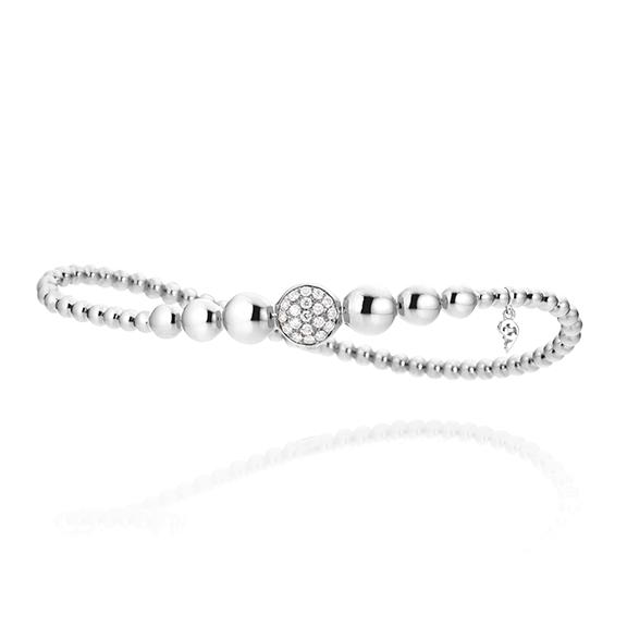 "Armband ""Dolcini"" 750WG, 19 Diamanten Brillant-Schliff 0.24ct TW/si, Innenumfang 17.0 cm"
