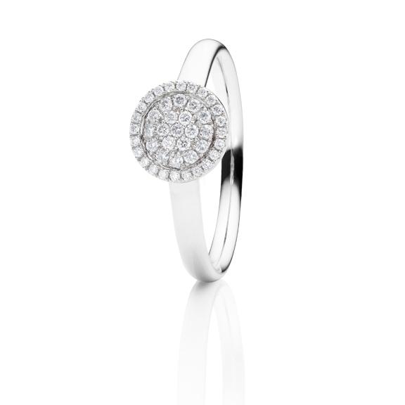 "Ring ""Dolcini"" 750WG, 43 Diamanten Brillant-Schliff 0.20ct TW/vs"