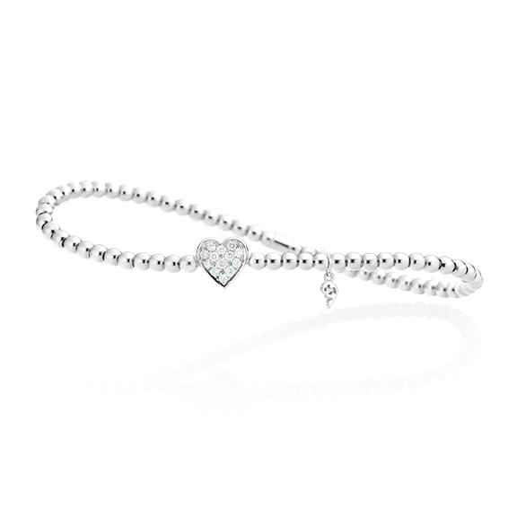 "Armband ""Flessibile"" 750WG, 13 Diamanten Brillant-Schliff 0.18ct TW/vs, Innenumfang 17.0 cm"