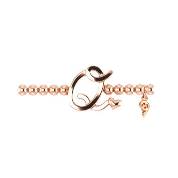 "Armband ""Poesia"" 750RG, Buchstabe ""Q"", Innenumfang 17.0 cm"