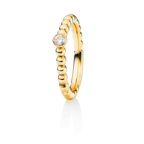 """Ring """"Fantasia"""" 750GG, 1 Diamant Brillant-Schliff 0.10ct TW/si"""