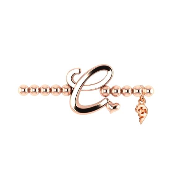 "Armband ""Poesia"" 750RG, Buchstabe ""C"", Innenumfang 17.0 cm"