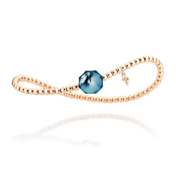 "Armband ""My Sunshine"" 750RG, Topas London blue Cabochon facettiert 8.90 x 8.90mm ca. 3.70ct, ""Flügel"" 750RG"