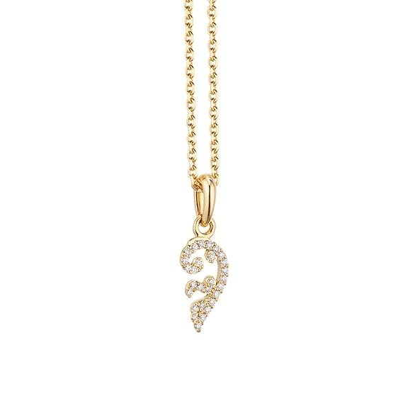 """Collier """"Joy"""" 750GG, 28 Diamanten Brillant-Schliff 0.04ct TW/vs, Länge 45.0 cm, Zwischenöse bei 42.0 cm"""