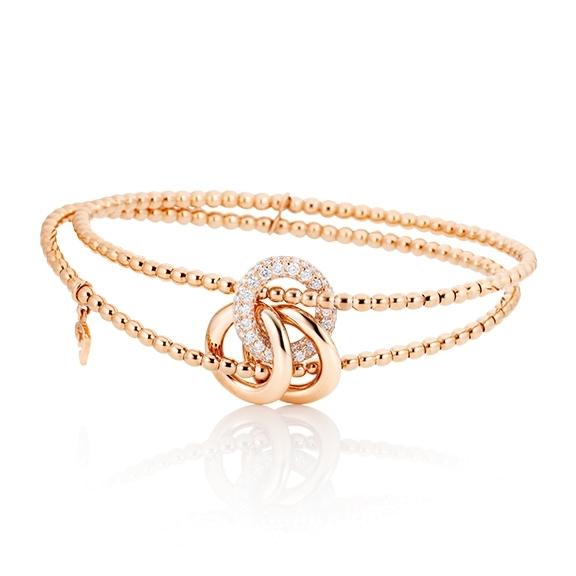 "Armband ""Cielo"" 750RG, 77 Diamanten Brillant-Schliff 0.59ct TW/vs1"