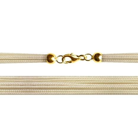 Textilband 750GG beige 8-reihig 45.0 cm