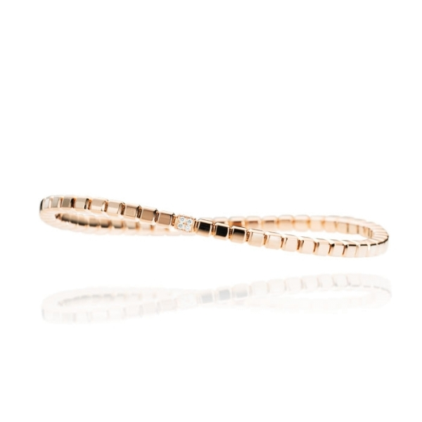 "Armband ""Splendido"" 750RG Würfel, 16 Diamanten Brillant-Schliff 0.11ct TW/si, Innenumfang 17.0 cm"