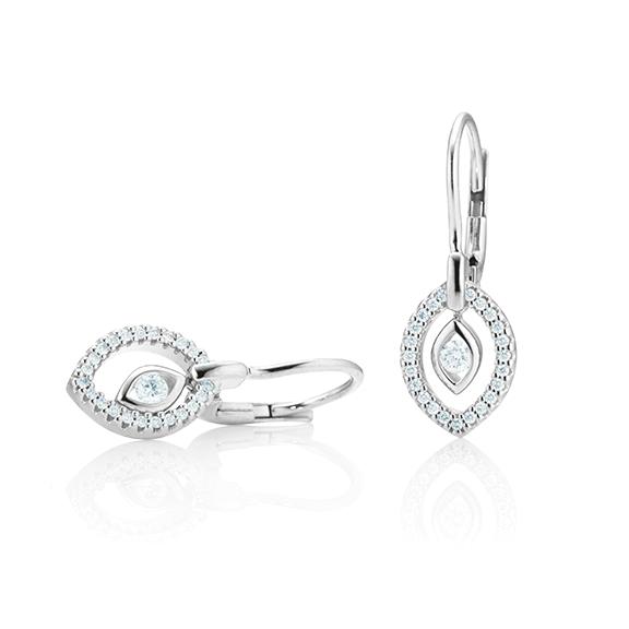 "Ohrhänger ""Glam Motion"" 750WG, 2 Diamanten Brillant-Schliff 0.10ct TW/si, 46 Diamanten Brillant-Schliff 0.12ct TW/si"