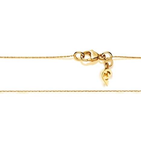Collierkette Zopf diamantiert 750GG 1-reihig mit Markenzeichen Ø 0.4 mm, Länge 45.0 cm, Zwischenöse bei 42.0 cm