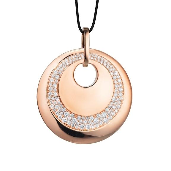 """Anhänger """"Amuleto"""" 750RG, 116 Diamanten Brillant-Schliff 0.82ct TW/si"""