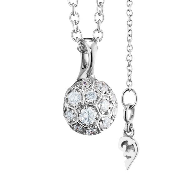 "Anhänger ""Fiore Magico"" 750WG Carreaufassung, 20 Diamanten Brillant-Schliff 0.55ct TW/vs"