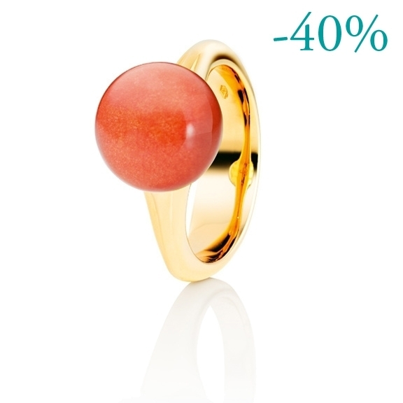 """Ring """"Dei Fiori"""" 750GG, Eosit Cabochon ca. 8.00ct"""