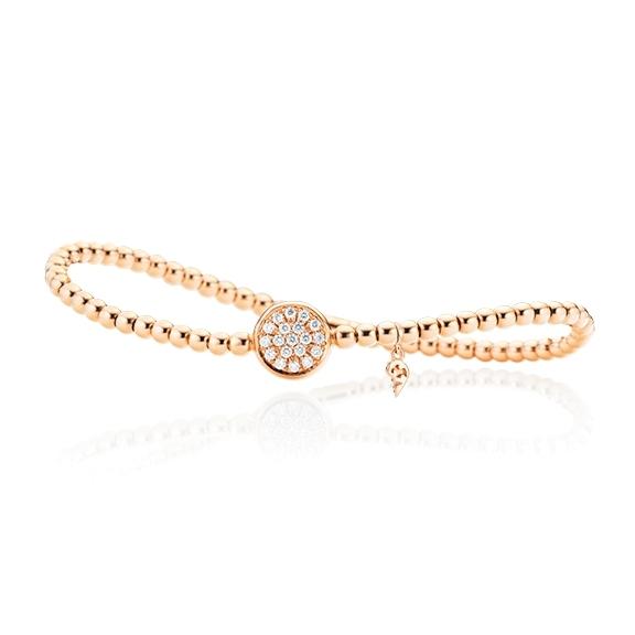 "Armband ""Dolcini"" 750RG, 19 Diamanten Brillant-Schliff 0.30ct TW/vs, Innenumfang 17.0 cm"