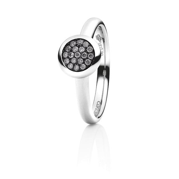 """Ring """"Dolcini"""" 750WG, 19 Diamanten Brillant-Schliff 0.16ct grey"""