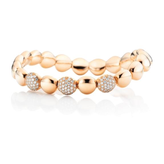 "Armband ""Dolcini"" 750RG, 93 Diamanten Brillant-Schliff 0.78ct TW/si, Innenumfang 17.0 cm"