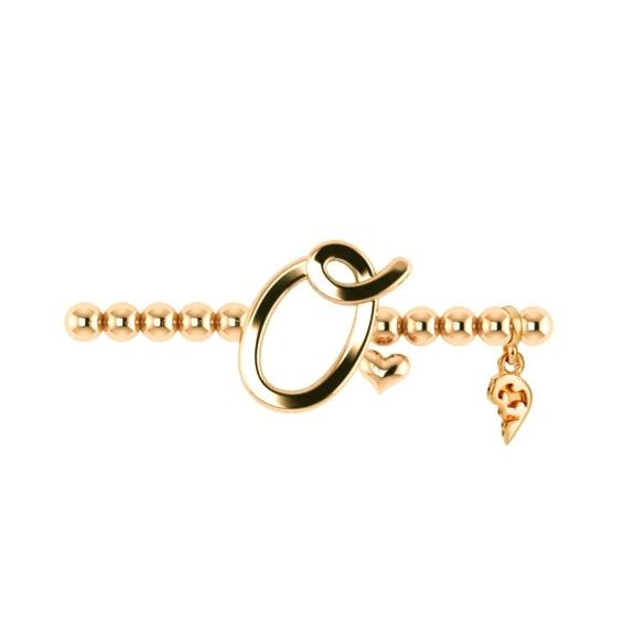 "Armband ""Poesia"" 750GG, Buchstabe ""O"", Innenumfang 17.0 cm"