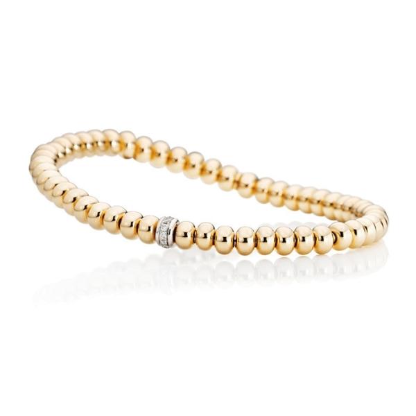 "Armband ""Flessibile"" 750RG, 11 Diamanten Brillant-Schliff 0.09ct TW/si, Innenumfang 17.0 cm"